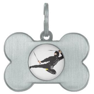 Retroceso del vuelo de Ninja Placas De Nombre De Mascota