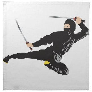 Retroceso del vuelo de Ninja Servilletas Imprimidas