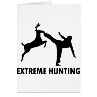 Retroceso extremo del karate de los ciervos de la felicitacion