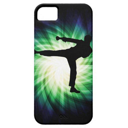Retroceso fresco del karate iPhone 5 funda