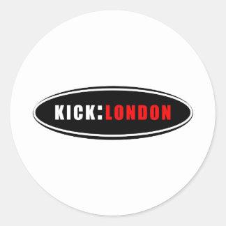 Retroceso: Mercancía de Londres Pegatina Redonda