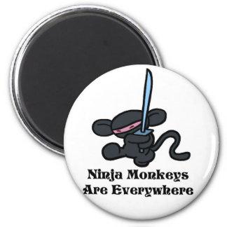 Retroceso negro de Ninja Imanes Para Frigoríficos