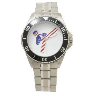 Retroceso Todo-Americano del Taekwondo (1) Relojes De Pulsera
