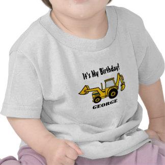 Retroexcavadora de la diversión de la construcción camisetas