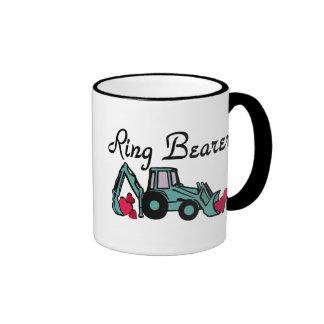 Retroexcavadora del portador de anillo tazas de café