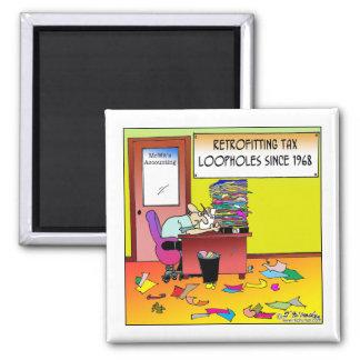 Retrofitting Tax Loopholes 2 Inch Square Magnet