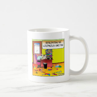Retrofitting Tax Loopholes Classic White Coffee Mug