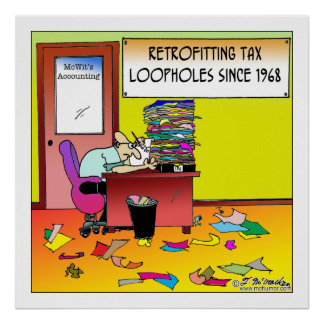 Retrofitting Tax Loopholes Poster