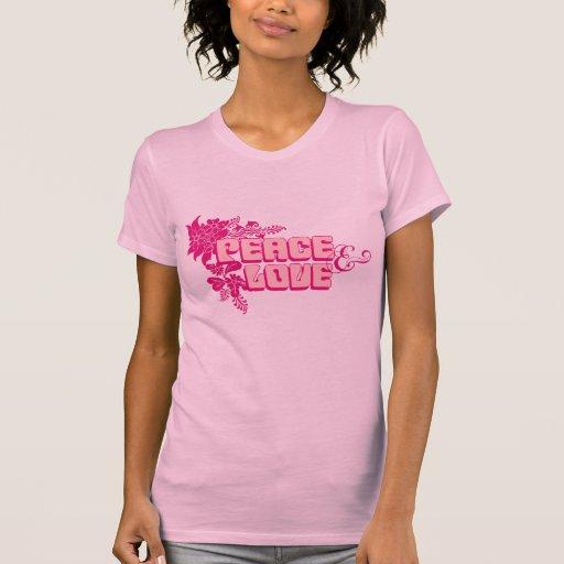 RetroFlowerHippiePink Camisetas