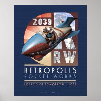 """Retropolis Rocket trabaja el poster (16x20"""")"""