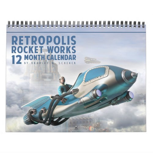 Retropolis Rocket Works Calendar