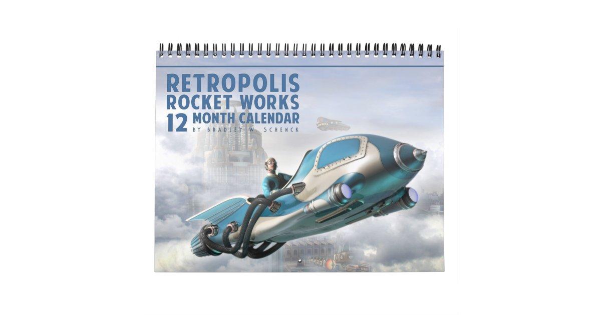 Rocket Calendar May : Retropolis rocket works calendar zazzle