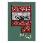 Retropolis Rocket Works Greeting Card