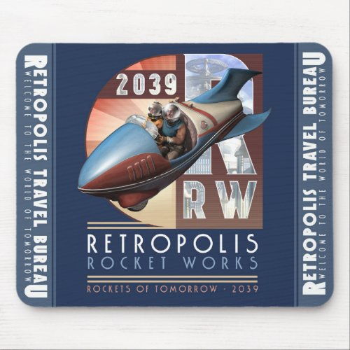 Retropolis Rocket Works Mouse Pad