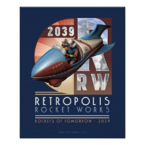 Retropolis Rocket Works poster (16x20