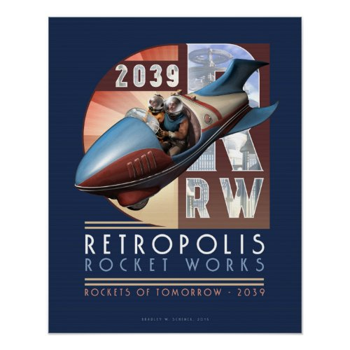 Retropolis Rocket Works poster (16x20