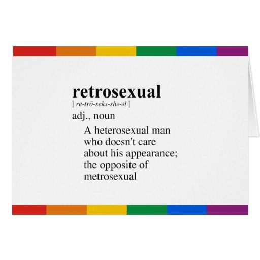 RETROSEXUAL GREETING CARDS