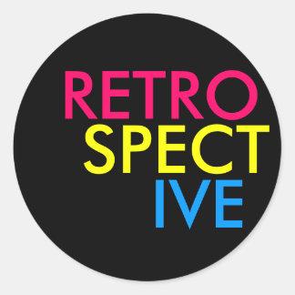 Retrospective Classic Round Sticker