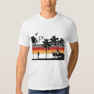 RetroSunsetBeach1 Tee Shirt