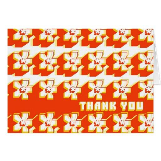RetroTech Flower Greeting Card