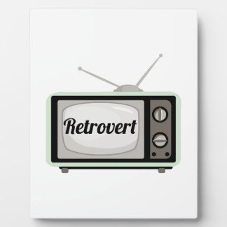 Retrovert Display Plaque