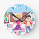 Retroville Sock Hop Diner Clock