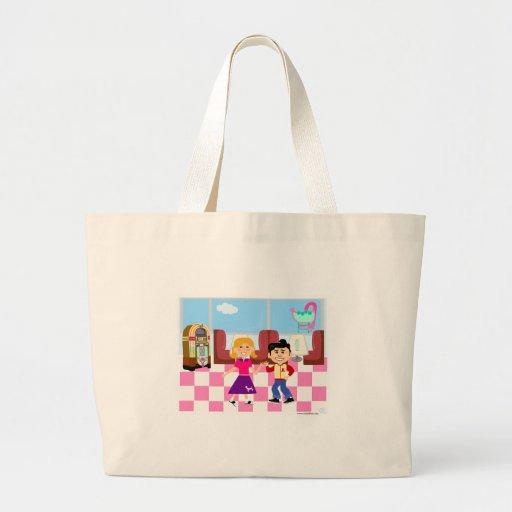 Retroville Sock Hop Diner Tote Bag
