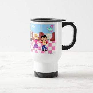 Retroville Sock Hop Diner Travel Mug