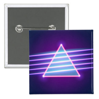 RETROWAVE NEON TRIANGLE PINBACK BUTTON