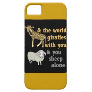 Retruécano animal divertido, jirafa y ovejas funda para iPhone SE/5/5s