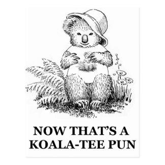 retruécano de la Koala-camiseta Postal