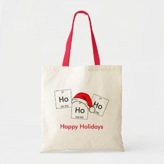 Retruécano del navidad del elemento de la química bolsa tela barata
