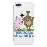 Retruécano divertido - cerdo que llama el ganado n iPhone 5 carcasas