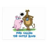 Retruécano divertido - cerdo que llama el ganado n postales