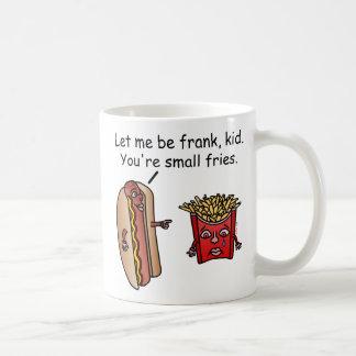 Retruécano divertido de la comida de las patatas taza de café
