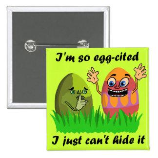 Retruécano divertido de los huevos de Pascua Pin Cuadrada 5 Cm