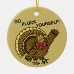 Retruécano divertido de Turquía de la acción de Ornamento De Navidad