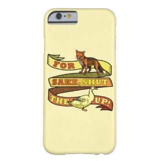 Retruécano divertido del animal del pato del Fox Funda De iPhone 6 Barely There