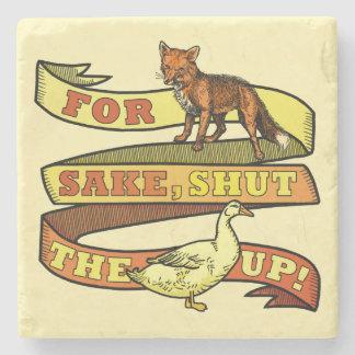 Retruécano divertido del animal del pato del Fox Posavasos De Piedra
