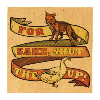 Retruécano divertido del animal del pato del Fox Posavasos