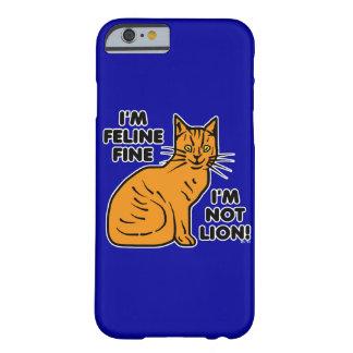 Retruécano divertido del gato funda de iPhone 6 barely there