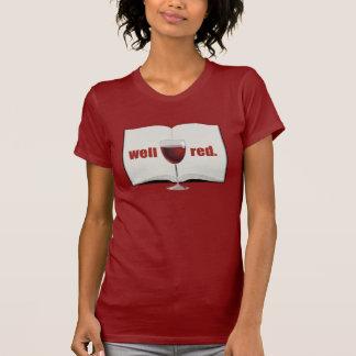 Retruécano divertido del vino: Rojo bien Playera