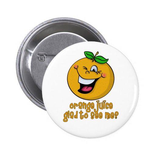 Retruécano divertido - zumo de naranja alegre verm pins