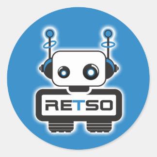 RETSO-sticker Classic Round Sticker