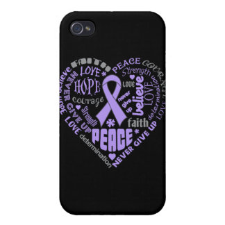 Rett Syndrome Awareness Heart Words iPhone 4/4S Cover