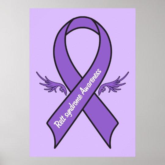rett syndrome awareness poster zazzle com