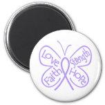 Rett Syndrome Butterfly Inspiring Words Fridge Magnets
