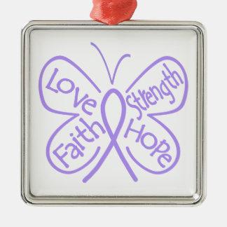 Rett Syndrome Butterfly Inspiring Words Ornament