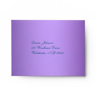 Return Address A2 Envelope for Reply Card envelope