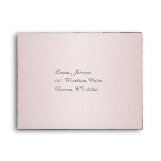Return Address A2 Envelope for Reply Cards